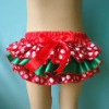 Christmas baby satin diaper cover for girls
