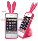 Hot! Rabbit Ears Iphone4 Silicone Case
