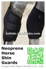 Neoprene horse shin guards