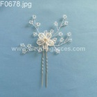 Beaded U hair pin