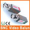 CCTV via twisted BNC video balun connectors
