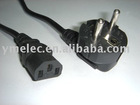 2.5m 14 AWG European Power Cord (CEE7/7 to IEC320C13)
