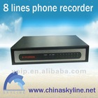 high quality / 8 lines telephone recording system,voice recording box,TYH636