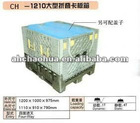 Plastic foldable container