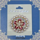 dia 14mm outer circle pearl brooch for woman