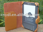 brown leather case for amazon Kindle 3G(PAYPAL)