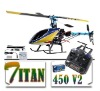 Titan 450 V2 RC helicopter RTF Trex 6CH 3D Metal