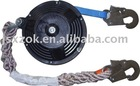 Webbing strap fall arrester