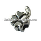 silver leaf spacer beads