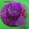 LADIES BURLESQUE Head Hair Clip Mini Top Hat Fascinator Cocktail Wedding