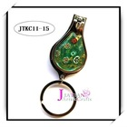 millefiori metal keychain and nail scissors