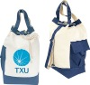 Drawstring canvas tote bags