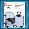 girl's ABS/PC hardcase travel trolley luggage /butterfly print/ carry-on suitcase