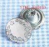 Silver jeans button,Zinc alloy rivet jeans buttons