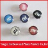 Silk screen pearl snap button