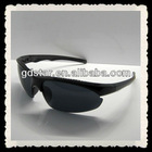 fashionable cool black Half frame sunglasses