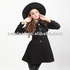 MISTIC 2012 women's slim fashion sweet single breasted peacock blue women's wool coat outerwear
