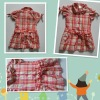 2012 colorful girls checked shirt