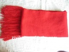 Hot sale winter warmer red fringe imitation wool scarf