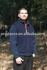 Men's boiled wool and knit blouson jacket