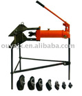 10T three legs hydraulic pipe bender with various shoes