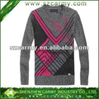 2013 Trendy Young Man's Lambwool & Acrylic Round O Neck Jumper