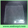 clear plastic pvc cd sleeve with 2 pockets