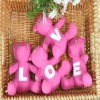 2012 Latest Fashion Design Pink With White Printed LOVE Bear Gift Set