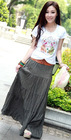 Wholesale Cheap Fashion New Arrive Bohemian Style Solid Maxi Skirt (With Belt) (1206393)