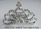 2012 simple design rhinestone bridal crown royal crowns taiaras combs