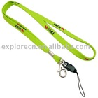 Slim neck lanyard