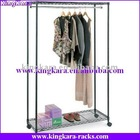 KingKara metal tube chrome plated display rack for garment