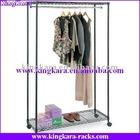 KingKara metal tube chrome plated display rack for garment