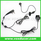 Two way radio accessories earphone headset with finger PTT for Baofeng dual band UV 5R