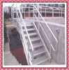 steel bar grating with checkere plate stair ladder