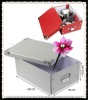 Foldable decorative cardbox with metal handle