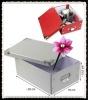 Foldable decorative cardbox with metal handle