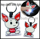 pvc key chain with led light,gift