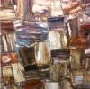 Gemstone dark brown petrified wood wall tile