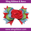 Ribbon Rose Clip/lifelike rose ribbon bows/4.5 inches width