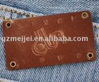 fashion jeans leather label