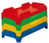 simple and easy colorized plastic children bed
