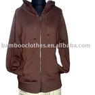 women's hooded zip-up coat