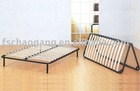 Folding Bed Frame With Wooden Slats