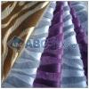 zebra pu flocking fabric