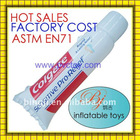 2013 hot promotional inflatable toothpaste,inflatable pvc toothpaste,inflatable tooth tube