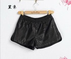 2012 fashion ladies sexy pu leather shorts&imitation leather short pants