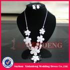 WNE008 In stock silver flower bridal diamond necklace settings