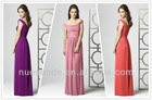 Ever Pretty New spaghetti Strap Chiffon Ruffles Long bridesmaid Dress