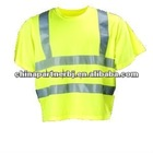 100% polyester short sleeve safety T-shirt